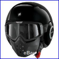 Shark Drak Gloss Black Urban Street Fighter Open Face Helmet
