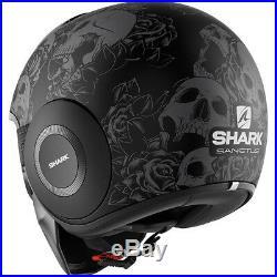 Shark Drak Sanctus Mat Open Face Motorcycle Helmet XL Matt Black Anthracite Lid