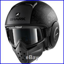 Shark Drak Tribute RM Mat Open Face Motorcycle Helmet L Matt Black Anthracite