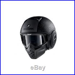 Shark Drak Tribute RM Motorcycle Motorbike Open Face Helmet KAA Black