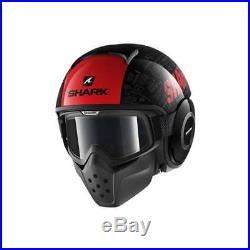 Shark Drak Tribute RM Motorcycle Motorbike Open Face Helmet KRA Black / Red