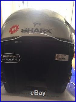 Shark Evoline-3 Modular Flip-Up Open-Face/Full-Face Helmet White Medium