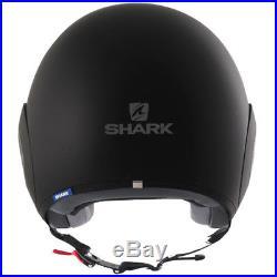 Shark Micro Open Face Urban Motorcycle Helmet Matt Black