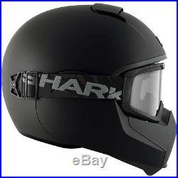 Shark NEW Vancore Matte Black Street Open Face Goggles Motorcycle Road Helmet