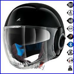 Shark Nano Blank BLK Open Face Scooter Motorbike Motorcycle Helmet All Sizes