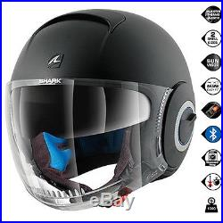 Shark Nano Blank Mat KMA Open Face Motorbike Motorcycle Helmet All Sizes