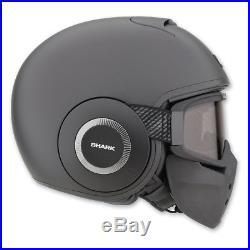Shark RAW Blank Matte Black Open Face Helmet