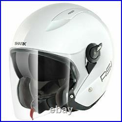 Shark RSJ WHU White Open Face Helmet Motorcycle Motorbike Helmet £50 OFF RRP! S
