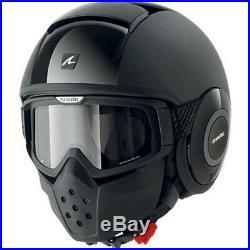 Lightweight Motorcycle Helmet >> Shark Raw Dual Mat Open Face Motorcycle Helmet S Black