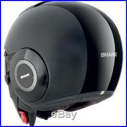 Shark Raw Dual Mat Open Face Motorcycle Helmet S Black Lightweight Motorbike ECE