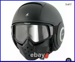 Shark Raw Urban Street Fighter Open Face Motorcycle Helmet Matt Black, Large