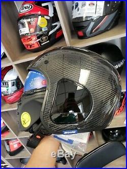 Shark S-Drak Carbon Open Face Motorcycle Street Helmet. Size (S, M, L, XL)