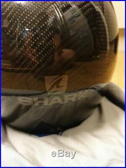 Shark S-Drak Carbon Skin Open Face Motorcycle Helmet Motorbike Jet Streetfighter