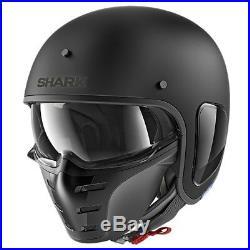 Shark S-Drak Open Face Motorcycle Helmet Matt Black