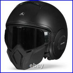 Shark Street Drak Blank Matte Black KMA Open Face Helmet New! Free Shipping