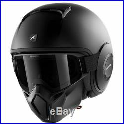 Shark Street Drak Open Face Urban Mask Motorcycle Helmet Matt Black
