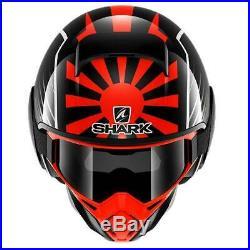 Shark Street Drak Zarko Replica Open Face Crash Helmet Black Orange Large