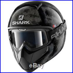 Shark Vancore Flare Motorcycle Motorbike Open Face Helmet KSK Black / Silver