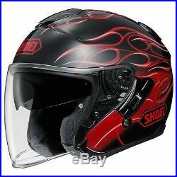 Shoei 2X-Large J-Cruise Reborn TC-1 Black/Red Open Face Motorcycle Helmet