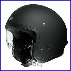 SPADA CLASSIC MATT BLACK OPEN FACE CRUISER SCOOTER MOTORCYCLE MOTORBIKE HELMET
