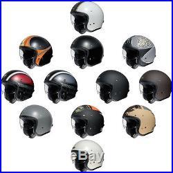 Shoei JO J-O Open Face Jet Retro Urban Motorcycle Helmet All Colours & Sizes