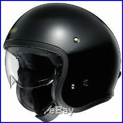 Shoei JO Open Face Motorcycle / Bike Helmet Black Size S 597228