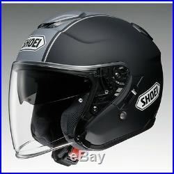 Shoei J Cruise Corso TC10Black/Silver Open Face Motorcycle Helmet with Sun Visor