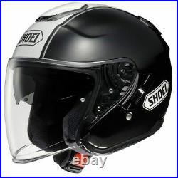 Shoei J-Cruise Corso TC5 Gloss Black White Open Face Motorcycle Helmet