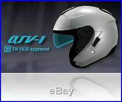 Shoei J-Cruise II Matt Black Open Face Motorcycle Motorbike Helmet S