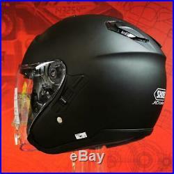 Shoei J Cruise Open Face Motorcycle Helmet Matt Black Small (S)