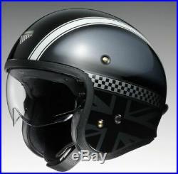 Shoei J. O. Hawker TC5 Open Face Retro Style Motorcycle Motorbike Helmet