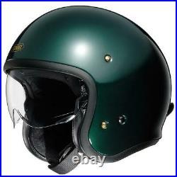 Shoei J. O. Jo British Green Open Face Motorcycle Motorbike Bike Cruiser Helmet