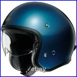 Shoei J. O. Jo Laguna Blue Open Face Motorcycle Motorbike Bike Cruiser Helmet