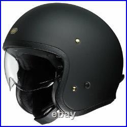 Shoei J. O Matt Black Open Face Motorcycle Motorbike Helmet