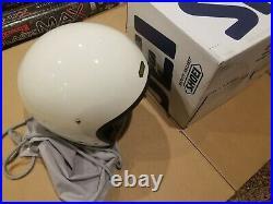 Shoei J O Off White Open-Face Helmet MEDIUM NEW