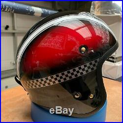 Shoei J. O Open Face Hawker Tc1 Red/black Motorcycle Helmet Small Ex Demo
