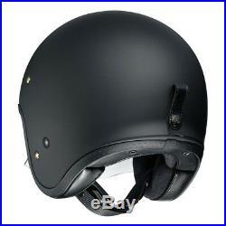 Shoei J. O Open Face Matt Black Motorcycle Helmet
