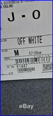Shoei J-O Open Face Motorbike Motorcycle Helmet In Gloss White. Size Medium
