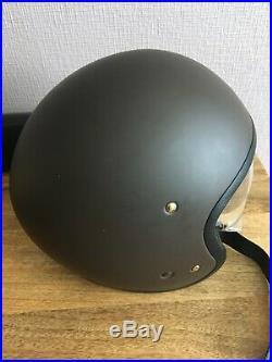Shoei J. O Open Face Motorcycle Helmet Matt Brown used=tried on, not worn on bike