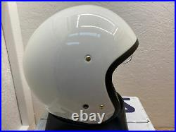 Shoei J. O Open Face Off White Motorcycle Helmet Large Ex Display