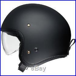 Shoei J. O Solid Matt Black Open Face Motorcycle Motorbike Helmet Crash Bike Race
