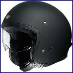 Shoei Jo J. O. Matt Black Open Face Motorcycle Cruiser Scooter Helmet