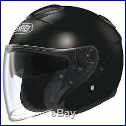 Shoei Large J-Cruise Black Open Face Motorcycle Helmet