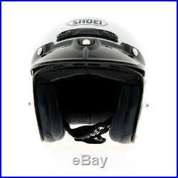 Shoei RJ Platinum R Gloss White Open Face Motorcycle Motorbike Helmet