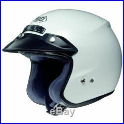 Shoei RJ Platinum R Plain White Open Face Touring Motorbike Motorcycle Helmet