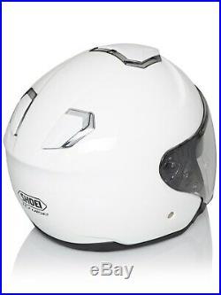 Shoei White J-Cruise Motorcycle Open Face Helmet
