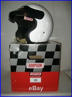 Simpson Crusier Snell SA2015 Open Face Large White Helmet 6320031 Pre-owned