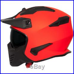 Spada Storm Plain Open Face Motorcycle Helmet & Visor With Removable Chin Mask