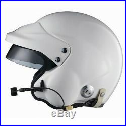 Sparco ADV Jet Plus Open Face Rally Helmet Glossy White HANS BLACK FRIDAY SALE