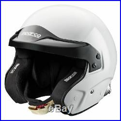 Sparco Car Racing/Race Pro RJ-3 Fibreglass Shell Open Face Crash Helmet/Lid